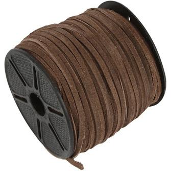 Mockaband Brun - Mockaband, 3 mm, brun, 1m