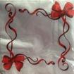 Servetter - rosetter - Rosettservett - röd