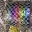 Nitar och blingbling band - Blingbling rock/regnbåge 1m ca 12,7 cm bred