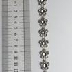 Strassband - 1m - Strass Storblomma Silver 1 m