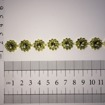 Strassband - 1m - Strass guld blomma 1 m