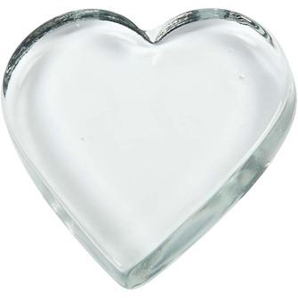 Dekorationshjärta - Glas - Dekorationshjärta 1st