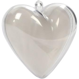Delbara julgranskulor - hjärta 6 cm i diameter 10st