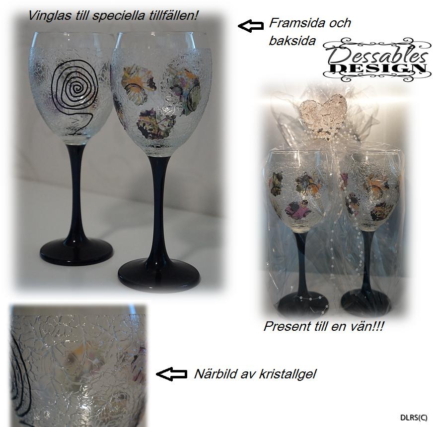 Förslagsbild på hur gelen kan se ut på glas