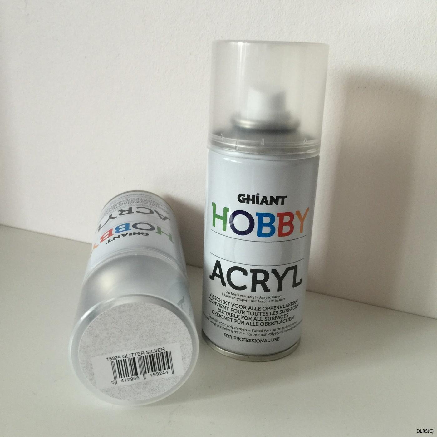 Silver sprayglitter
