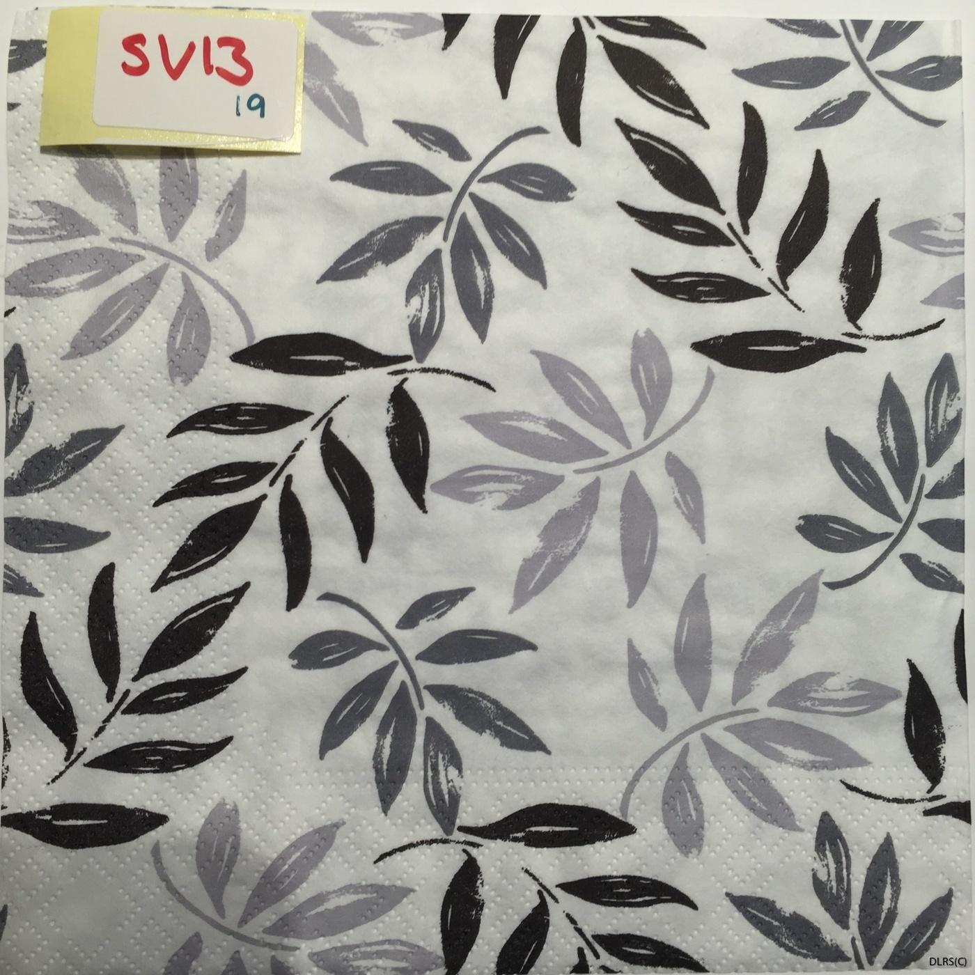 svart/grå blad