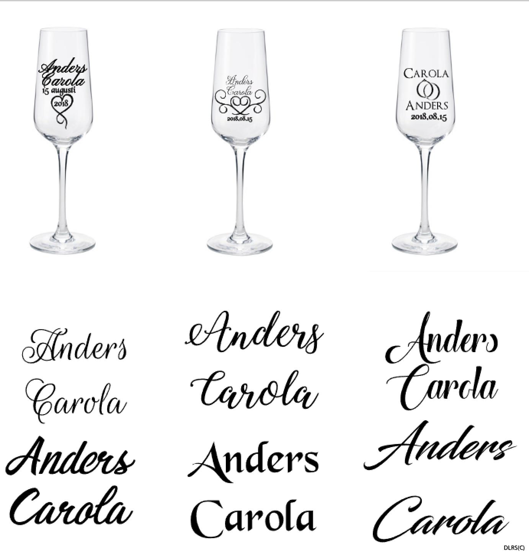 bröllopsglas