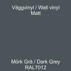 Dekorvinyl - Ickepermanet Väggvinyl - ASLAN - Vinyl mörkgrå 1 meter