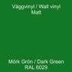 Dekorvinyl - Ickepermanet Väggvinyl - ASLAN - Vinyl  mörkgrön 1 meterh
