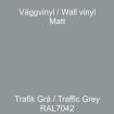 Dekorvinyl - Ickepermanet Väggvinyl - ASLAN - Vinyl trafikgrå/mellangrå 1 meter