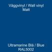 Dekorvinyl - Ickepermanet Väggvinyl - ASLAN - Vinyl  Marinblå1 meter