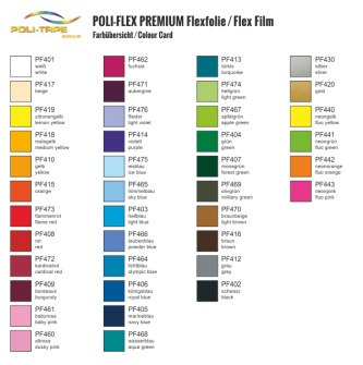 HTV - Poli-flex Premium från 0,5m - 401 Vit / White 0,5m