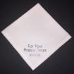 Näsdukar - Bröllop, högtider - N2 *Vitprickigt bomullsatin:  For Your Happy Tears ( datum)