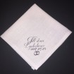 Näsdukar - Bröllop, högtider - N10 Rosa bomullslinne: Till dina lyckotårar