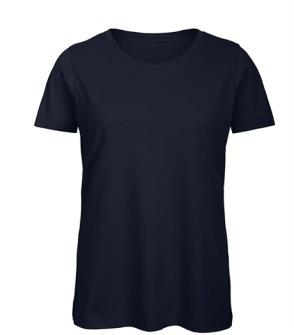 T-shirt Women's 100% Organic Cotton Tee - Svart ( XS, S, M, L, XL, XXL skriv storlek i kommentaren)
