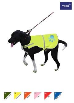 Hi Vis Reflective Border Dog's Vest - 38 STL S - BOTTLE GREEN