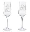 Bröllopsglas - Brudglas 1 par med namn datum samt ringar