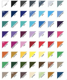 Förkläde utan ficka - förkläde skriv i kommentaren vilken färg du önskar och hur många. Färgkoden står på den lilla bilden. elelr bredvid bilden.