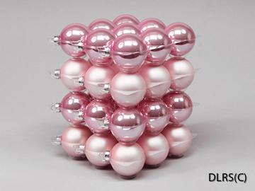 3.124314 Rosa julgrans glaskulor 6 cm mix
