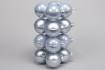 Glaskulor - Julkulor 8cm - 8 cm, 16st puderblå julgrans glaskulor 8 cm mix