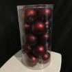 Julkulor Plast dia. 6cm - MÖRKRÖD MATT Julgranskulor, dia. 6 cm, röd  20st.