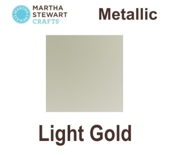 Metalic Martha Stewart - Light guld