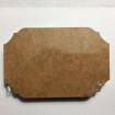 Träskylt MDF - MDF 3 snidad rektangulär 5pack150mm*100mm