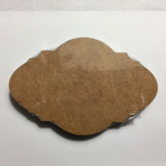 Träskylt MDF - MDF 1 snidad oval 5pack150mm*100mm