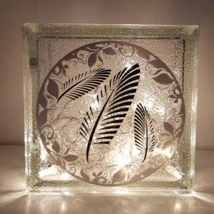 Glasblocksvas med Lena Dessables