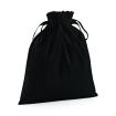 Bomulls säck / påse - Svart L=ca 30x47 cm