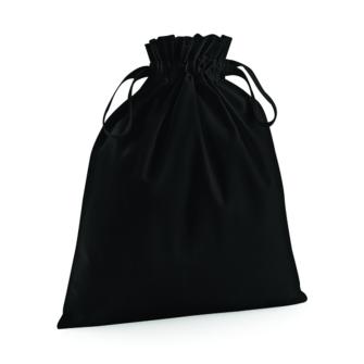 Bomulls säck / påse - Svart XS = ca10x15 cm
