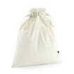 Bomulls säck / påse - Natur L=ca 30x47 cm