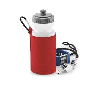 Vattenflaska och textilhållare - Röd