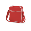 Retro Flight Bag - RÖD VIT 5-10 dagars leverans