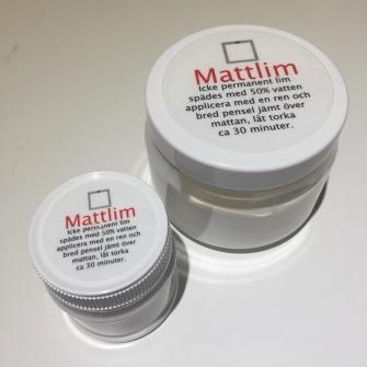 Mattlim - 100mll inkl pensel