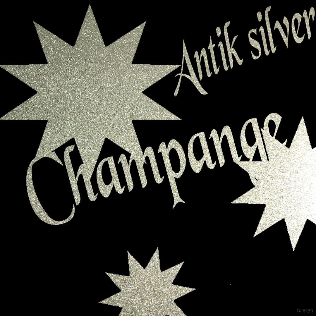 Antik silver  med Champange känsla