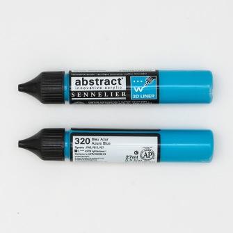 3D liner - Azurblå blå - Azurblå blå  28ml