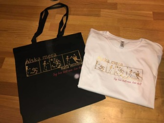 Älska mera - T-shirt UNISEX VIT