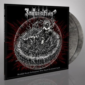 INQUISITION - Bloodshed Across the Empyrean Altar Beyond the Celestial Zenith DLP (Coloured) - Silver & black marbled 12