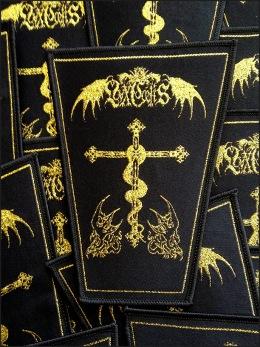 LVXCAELIS - sigil patch - Woven patch. Gold.
