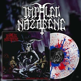 """IMPALED NAZARENE Tol Cormpt Norz Norz Norz... 12"""" LP - White w/ blue & red splatter 12"""