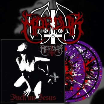 "MARDUK Fuck Me Jesus 12"" LP - Purple w/white, red & black splatter 12"
