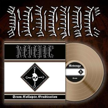 "REVENGE Scum. Collapse. Erradication 12"" LP (bronze edition) - Bronze 12"