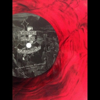DARKENED NOCTURN SLAUGHTERCULT - Hora Nocturna Gatefold LP - galaxy effect - red/black 12