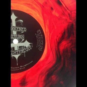 DARKENED NOCTURN SLAUGHTERCULT - Nocturnal March Gatefold LP - galaxy effect - red/black 12