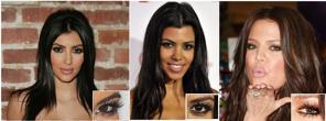 Systrarna Kardashian har ögonfransförlängning