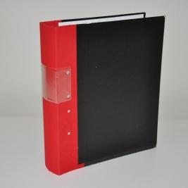 Gaffelpärm 60 mm - Röd rygg