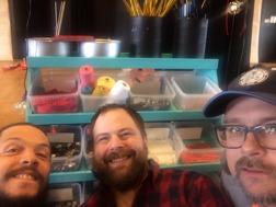 """Luc, Anders och Magnus säger: """"Vi  att bygga nya tankar med spilloteket! #spillfie #årekulturskola"""""""