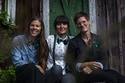 Camilla, Linda och Frida. Foto:Jörgen Vikström
