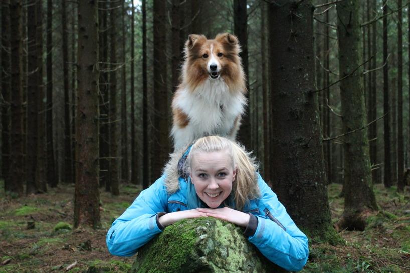 Sofie Brodén, examinerad instruktör och resurshundförare 2015.